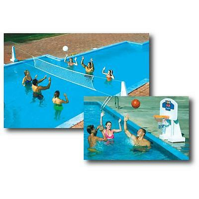 Pool Jam Volleyball Basketball Combo For In Ground Pools Insta Snap Fun Game New