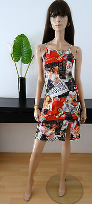 ROBE IMPRIME VINTAGE 50'S FIFTIES TAILLE 36/38/pin-up