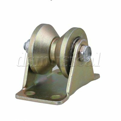 200kg Load Bearing 31mm Wheel Dia 45# Steel V Groove Rigid Caster Yellow