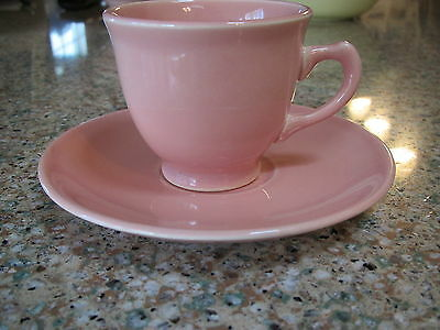 Vintage TS&T LuRay Pastels sharon pink demitasse cup & saucer set-excond
