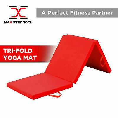 Authentic Tri Folding Exercise Thick Mat Yoga Gym Training Workout Non Slip