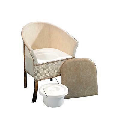 Homecraft Bedroom Commode Chair Discreet Toilet Removable Pan