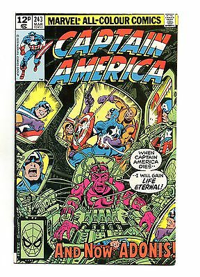 Captain America Vol 1 No 243 Mar 1980 (VFN+ to NM-) Modern Age (1980 - Now)
