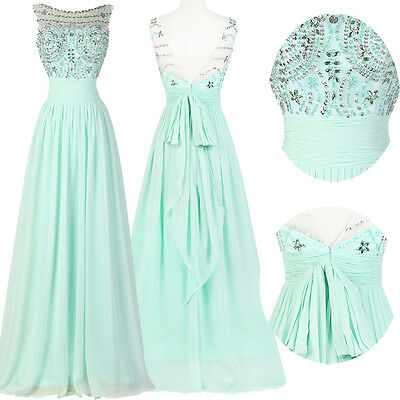 Sexy Chiffon Long Bridesmaid Formal Prom Gown Ball Evening Cocktail Party Dress