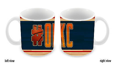 Basketball Team Hashtag Oklahoma City #OKC 11oz Ceramic Coffee Mug