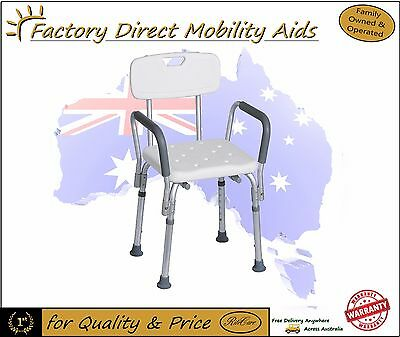 Aluminium Shower Chair with Removable Arms and Back Value!