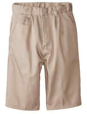 Boys Khaki Short Pleated Front Genuine School Uniform - New - Sizes 4 - 20
