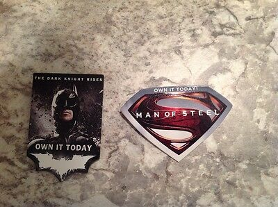 Batman & Superman Movie Pins. Super hero