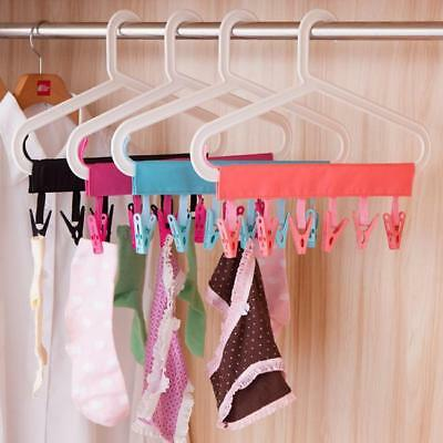 Practical New Cloth Hanger Foldable Travel Bathroom Rack Clothes Hanger Clip L