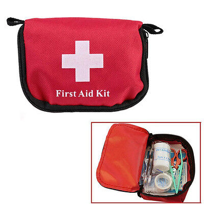 1st First Aid Kit Carry Bag Medical Pouch Camping Car Emergency Holiday Travel