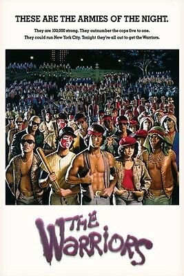 PARAMOUNT PICTURES THE WARRIORS MOVIE ARMIES OF THE NIGHT POSTER 24x36 NEW