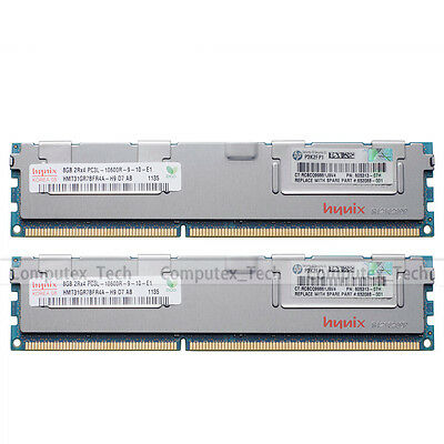 Hynix 16GB 2x8GB PC3L-10600R DDR3-1333Mhz Memory Upgrade For HP z800 WorkStation