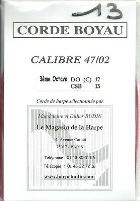 Budin Corde Harpe à pédales 17 C Do Boyau octave 3 - Celtique Do 13