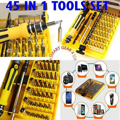 NEW 45 in 1 Hardware Screw Driver Manual Tool Set Kit For Computer Laptop