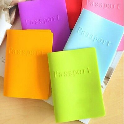 Useful Silicone Passport Protect Cover Travel Document Card Case ID Holder NEW