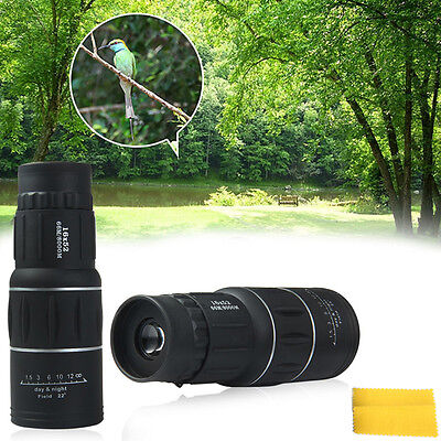 16 x 52 Dual Focus High Magnification Green Film Coating Lens Shimmer MonocularR