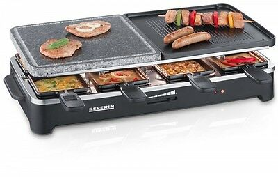 Barbecue, Grill, Raclette, Severin Raclette Party Grill With Natural Stone Grill