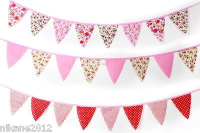 2M Bunting vintage wedding shabby chic floral spot stripe gingham garden party