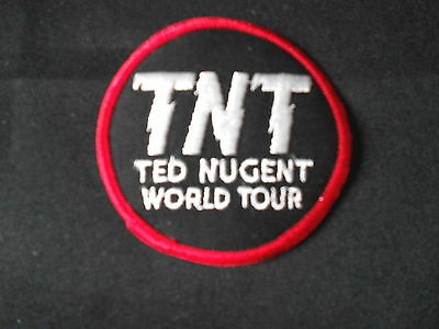 """Vintage 1977 Ted Nugent """"TNT"""" Tour Iron-on Embroidered Patch NOS Brand New MINT!"""