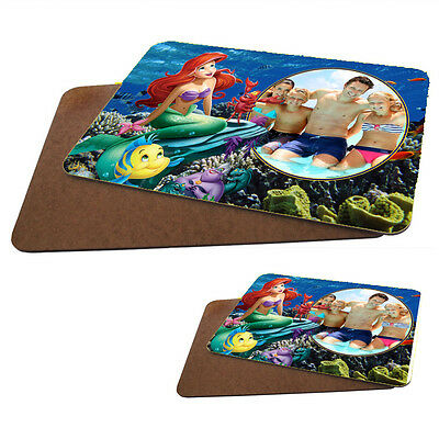 Personalised Photo Hard Backed Placemat 20cm X 28cm X 1 With Matching Coaster