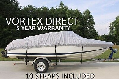 New Vortex Heavy Duty Fishing/ski/runabout/boat Cover 16' - 17 1/2' Gray/grey