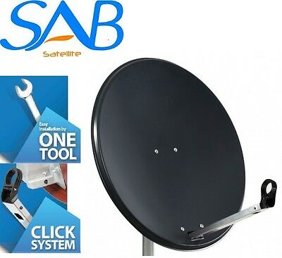 1M 100CM Solid High Quality Satellite Dish & Pole Fittings Hotbird Astra Freesat
