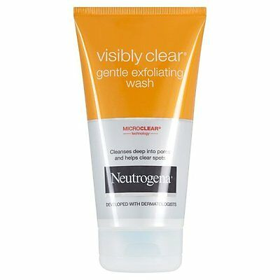 Neutrogena Visibly Clear Gentle Exfoliating Face Wash (150ml) New