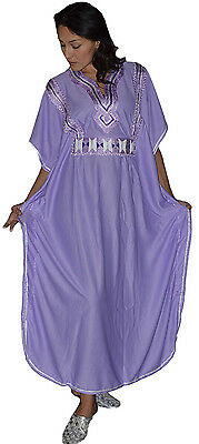 Moroccan Caftan kaftan Handmade Abaya Swim Cover lounge wear maxi Dress Lavender