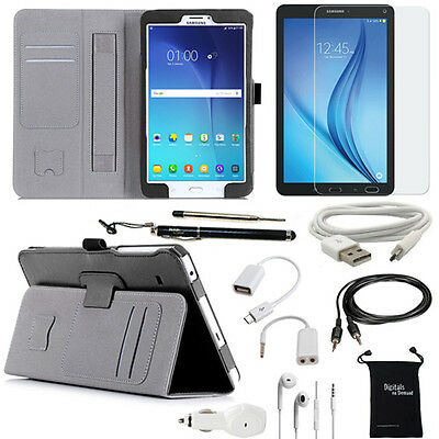 10-Item Accessory Bundle for Samsung Galaxy Tab E 8.0 8-inch - Case and Chargers