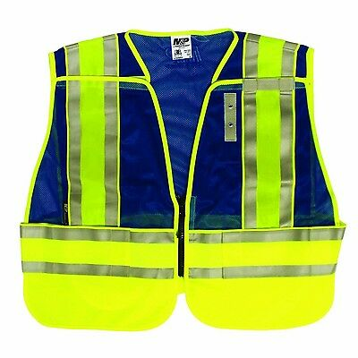 Smith & Wesson Blue Reflective Safety Work Vest SVMP021P-2XL/4XL