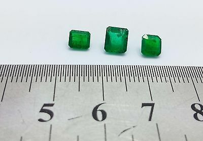 2.10 carat 3 PCs Afghan Jagdalak Mine Emerald Pure dense color set Natural