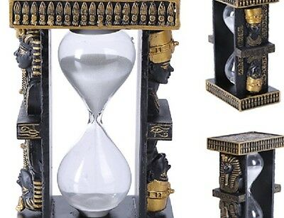 Ancient Egyptian Hourglass SANDS OF TIME HOUSING THE KING &  QUEEN ON EACH SIDE