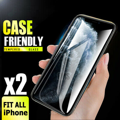 2X Apple iPhone X /XS /11 Pro Anti Scratch Tempered Glass Screen Protector Guard