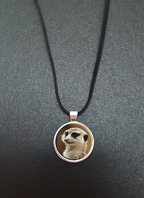 """Meerkat Pendant On a 18"""" Black Cord Necklace Ideal Birthday Gift N52"""