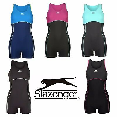 Womens Swimming Costume Ladies Slazenger Boyleg Suit Swimsuit Swimwear Triathlon