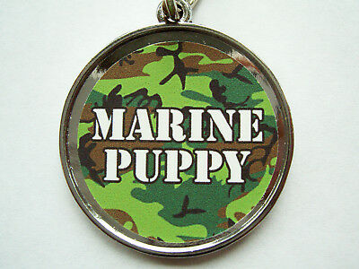 Pet ID Tags Dog Collar Tag Marines USMC Camouflage LG