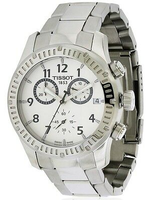 Tissot V8 Chronograph Silver Dial Stainless Steel Men's Watch T0394171103700