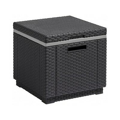 Rattan Ice Box Cooler Storage Table Garden Outdoor Patio Furniture Party Drinks