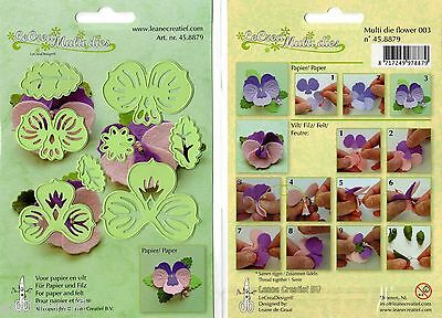 LeCrea' Multi Dies Cut/Emboss Die Stencil for paper/card/felt 45.8879 Flower 003