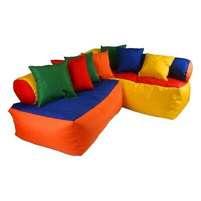 Bean Bag Sofa Set Kids Bed Room Furniture Play Room Corner Colourful Cushions