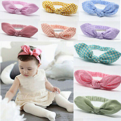 Baby Kids Girls Newborn Infant Rabbit Bow Headband Hairband Headwear Turban Knot