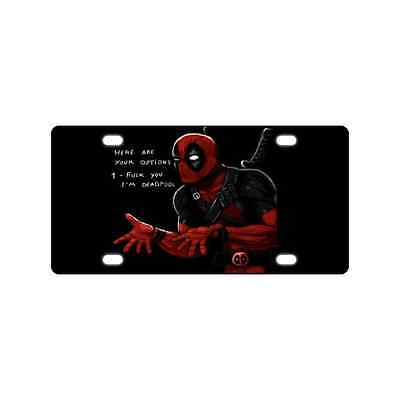 Personalized New Unique Deadpool Metal License Plate Frame for Car