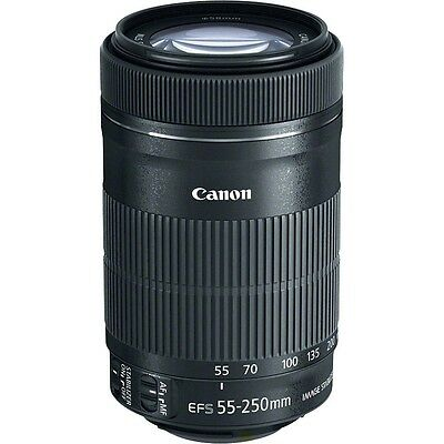 Canon EF-S 55-250mm f/4-5.6 IS STM Lens Objektiv NEU *TAX FREE* Bulk #CN193X