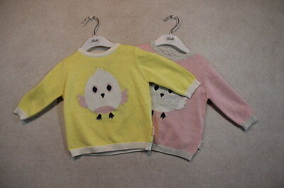 Baby Girl Size 000,00,0,1,2 Ouch Winter Pink Or Lemon Knitted Chick Jumper NWT