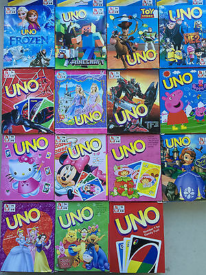 UNO CARDS Family Fun Playing Card Educational Toy Board Game Different Theme
