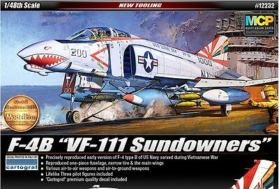Academy Plastic Model Kit 1/48 F-4B VF-111 Sundowners Cartograf Decal 12232 NEW