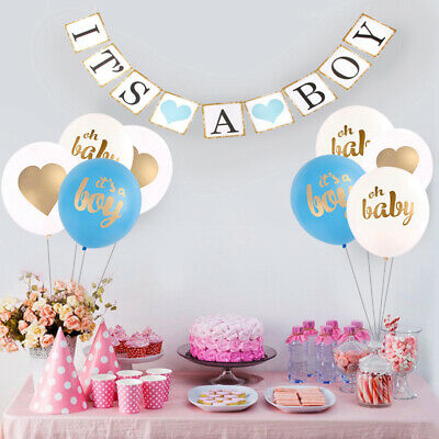 Its A Boy Girl Paper Baby Shower Banner Garlands Kids Birthday Party Decoration