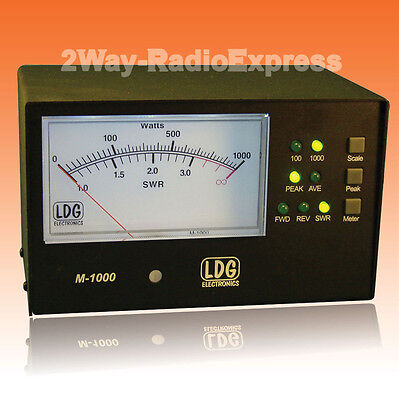 LDG M-1000 External 4.5 inch SWR-POWER Meter for the LDG AT-1000PROII tuner
