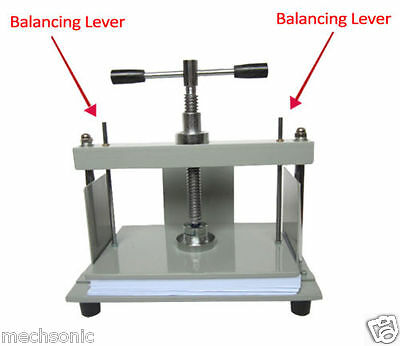 A4 Size Manual Flat Paper Press Machine for Nipping Vouchers, Books, Invoices S