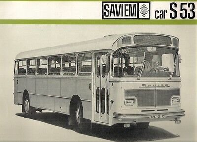 Saviem S 53 Coach Mid-Late 1960s French Market Foldout Sales Brochure